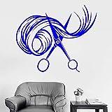 xingbuxin Fototapete Schere Haar Schönheitssalon Friseur Friseur Aufkleber Fenster Logo Muster abnehmbare Innendekoration 2 69x57cm