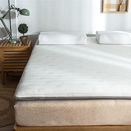 Los colchones Individuales, los colchones portátiles Plegables, la sensación de Comodidad para Dormir y Las Telas Pueden Utilizar como colchones para Acampar,White,1.2 * 2m