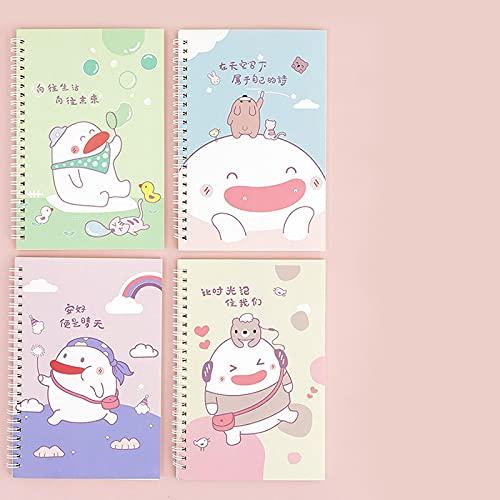 Cuaderno Espiral A5 60 Hojas Bunny Planificador Semanal Diario Cuaderno Organizador De Tiempo Material De Oficina Escolar Bloc De Notas Papelería Kawaii D