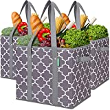 WiseLife 3-Pack Reusable Grocery...