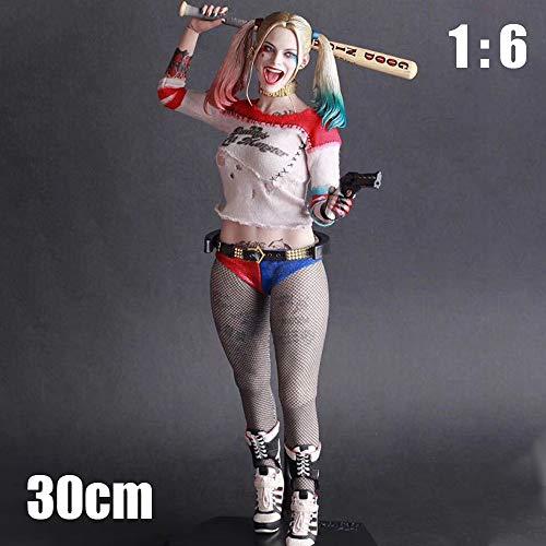 HAIZI FIGURE Juego para Niños Juguetes Harley Quinn Figuras De Acción del PVC -30cm Modelo Decoración del Hogar Regalo para El Niño