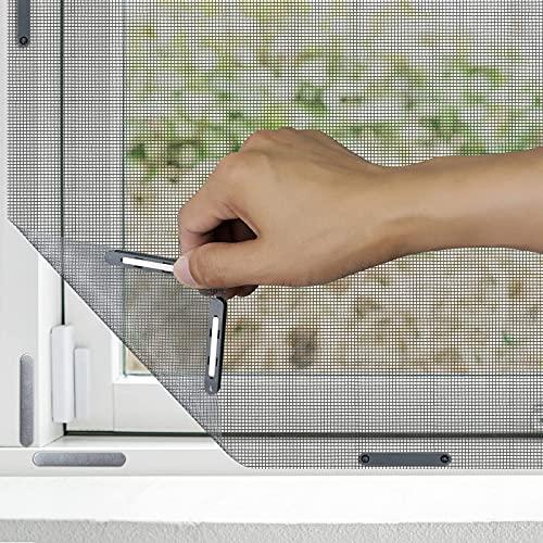 Apalus Zanzariera Magnetica Universale Finestra 130 x 150 CM, 1 Pezzo – Rete Zanzariera Apri e Chiudi - Protezione contro Zanzare, Mosche - CON Taglierino e Clip Magnetiche, Nera