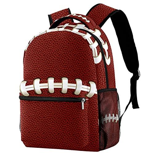 Freizeit Campus Reiserucksäcke, Rugbyball-Textur, Sporttaschen mit Flaschenhalter für Mädchen und Jungen