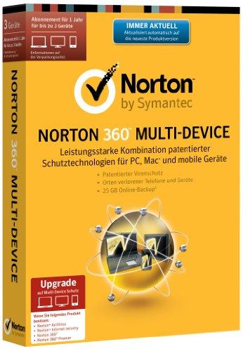 Norton 360 Multi Device 2.0 - 3 Geräte - Upgrade (PC, MAC, Android, iOS) (Minibox)