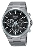 Pulsar Herren Analog Quarz Uhr mit Edelstahl Armband PZ5097X1