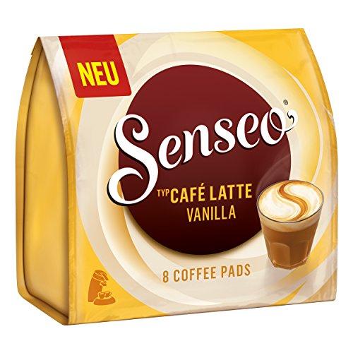Senseo Kaffeepads Café Latte Vanilla, Vanille Milchkaffee, Milch Kaffee Pad, 8 Pads