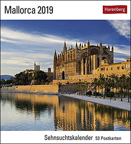 Sehnsuchtskalender Mallorca - Kalender 2019 - Harenberg-Verlag - Postkartenkalender mit 53 heraustrennbaren Postkarten - 16 cm x 17,5 cm