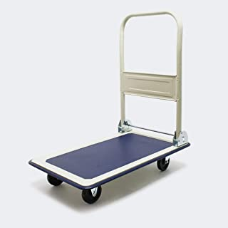 WilTec Carrito Plataforma 300kg Transporte Manual Plegable Carretilla Plataforma Carga Almacén Taller Casa