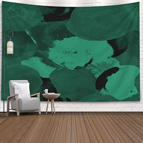 NVDKGM Tapiz de pared de 2012 x 152 cm, fondo abstracto de acuarela, patrón festivo, simple, redondos, dibujado en estilo bohemio, tapiz para colgar en la pared, para dormitorio, sala de estar o casa