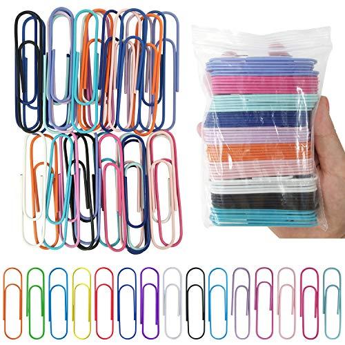 Flying swallow 60 Pezzi carta colorata clip fermagli in metallo 76 mm, jumbo metallo graffette, (10 colori, un colore, 6 pezzi)