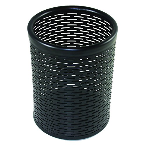 Artistic Urban Collection Punched Metal Pencil Cup, Black (ART20005)