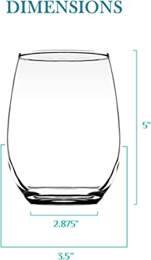 Custom Text 20 ounce Stemless Wine Glass | Your Personalization Glass | Durable Customized Red & White Wine Glass | Perso