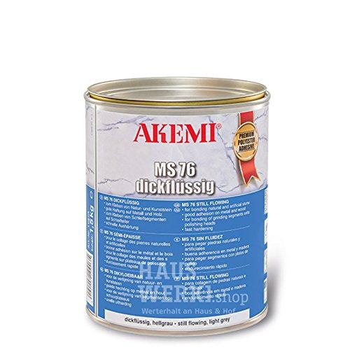 AKEMI Stein- und Marmorkleber MS 76, dickflüssig, hellgrau, 1.5 KG