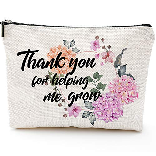 Thank you gifts,Teacher Gifts, Mother gifts,Graduation Gifts for Teachers,Teacher Appreciation Gift, Makeup Bag, Pencil Case, Grandma gifts, Girl,Preschool Elementary High School University College