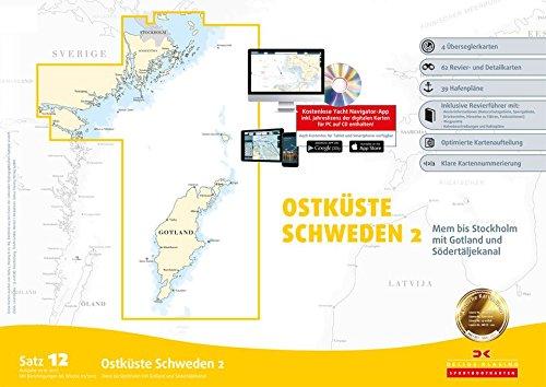 Sportbootkarten Satz 12: Ostküste Schweden 2 (berichtigt bis 01/2017): Mem bis Stockholm mit Gotland und Södertäljekanal
