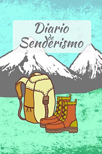 Diario de Senderismo: que se rellenará con el formulario I Espacio para 55 caminatas I Botas de montaña y mochila