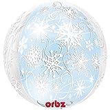 amscan Orbz - Globos de Copos de Nieve