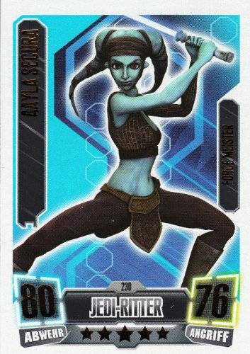 Star Wars Force Attax Serie 2 cartes simples 230 AAYLA SECURA Chevalier Jedi Force Meister Allemand
