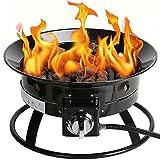 Kinger Home Portable Propane Fire Pit, 52,000 BTU 20 Inch Diameter, Propane Gas...
