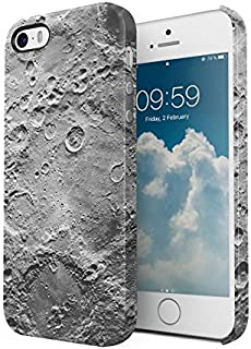 Gray Realistic Moon Surface Pattern Protective Hard Plastic Snap-On Phone Case Cover For iPhone 5 / iPhone 5s / iPhone SE