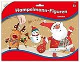 Mammut Spiel & Geschenk 162009 Bastelset Hampelmann-Figuren Weihnachten 1, Komplettset mit 3 Bögen Einzelteilen, diversem Zubehör und 1 Anleitung, Kreativset für Kinder ab 5 Jahre