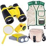 INNOCHEER Outdoor Explorer Kit with Vest & Crossbody Bag, Children Adventure Paleontologist Costume