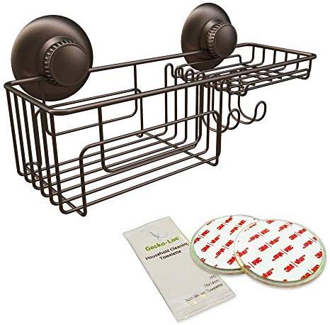 Gecko Loc Suction Cup Shower Caddy Bath Organizer Bathroom Storage Basket Bronze Combo product image