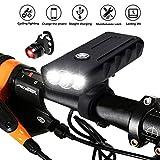 Aimaylly Luz Bicicleta Recargable USB, Linterna Bicicleta con Luz Bicicleta Delantera, Super Brillante LED Bicicleta Set Luz para Carretera y Montaña 3 Modos Impermeable
