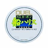 DUEL(デュエル) ライン(フロロカーボン): HDカーボン船ハリス大物 50m 24号 : クリアー