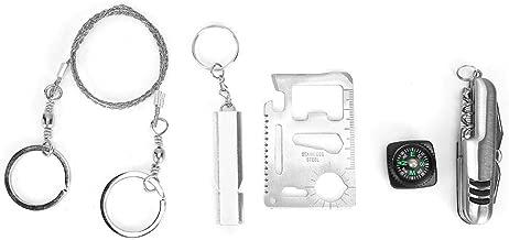 Dioche Survival Mirror Outdoor Emergency Multifunctional Survival Rescue Reflective Signal Mirror