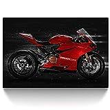 CanvasArts Ducati 1199 Panigale - Leinwand Bild auf Keilrahmen Wandbild Motorrad 04.3201 (60 x 40 cm, einteilig)