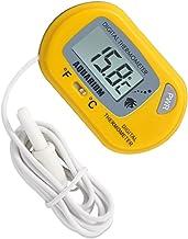 Amuzocity Dispositivo de Medición de Temperatura de Termómetro de Agua de Acuario LCD Digital para Peces