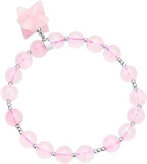 TUMBEELLUWA Beads Bracelets Semi Precious Stone Merkaba Yoga Beads Healing Crystals Chakra Bracelet Handmade Jewelry for W...