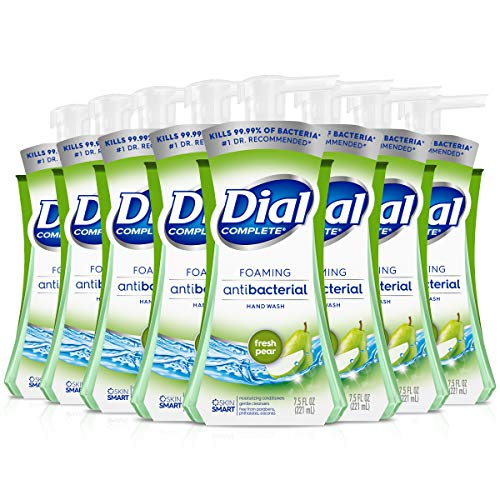 Dial Complete Antibacterial Foaming Hand Soap Fresh Pear 75 Fluid Ounces Pack of 8