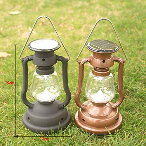 GRTE Rechargeable Camping Lantern, Multi-functional Camping Light, Emergency Light,Hand crank,Solar,USB charging For Hiking, Night Fishing, Hunting, Emergency,A