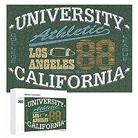 カリフォルニア大学アメリカンフットボールスクール マッ 88 300ピースのパズル木製パズル大人の贈り物子供の誕生日プレゼント