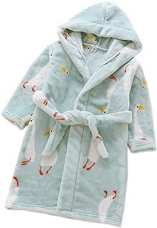 XINNE Niñas Y Niños con Capucha De Albornoz Suave Pijama