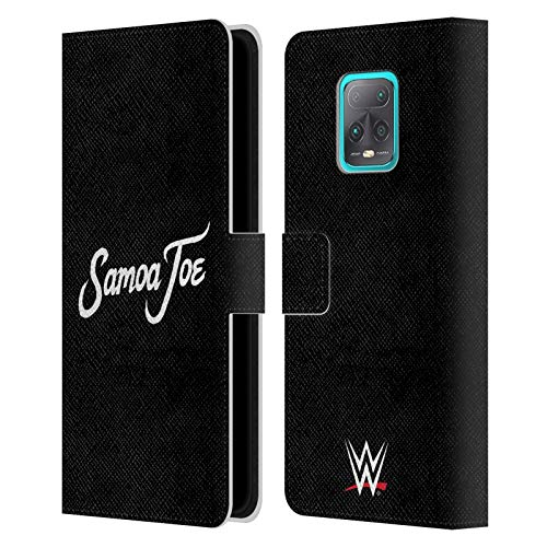 Head Case Designs Officially Licensed WWE Logo Samoa Joe Leather Book Wallet Case Cover Compatible with Redmi 10X 5G/Redmi 10X Pro 5G