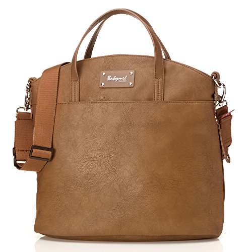 Babymel Grace Vegan Leather Tote Diaper Bag, Tan
