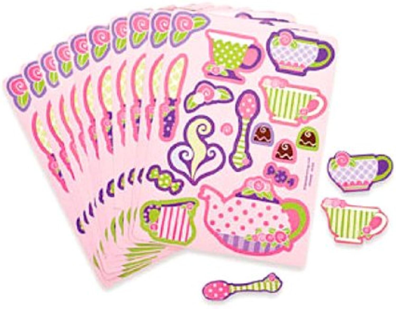 Fun Express Girly Tea Party Party Party Aufkleber Blatt (2 DZ B005G9857K | Verwendet in der Haltbarkeit  10117e
