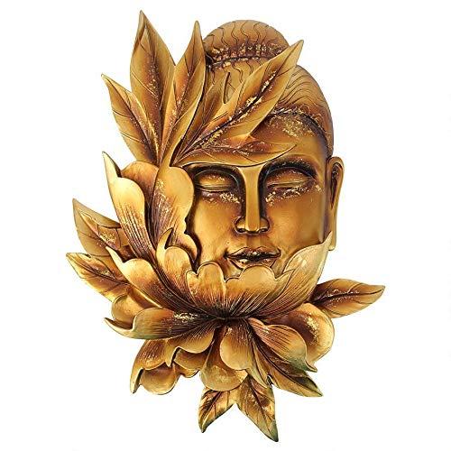 Design Toscano Buddha Enlightened Deity Wall Sculpture, 12 inch, Gold
