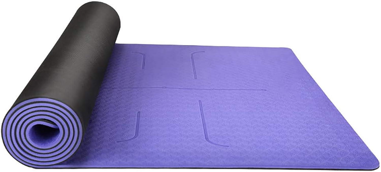 SIYUZ Yogamatte Verlngert Verbreiterung Rutschfeste, Schweiabsorbierende Fitnessmatte Heimunterlage Weich Und Angenehm Umweltfreundlich Geruchlos Guter Rebound-Effekt Für Anfnger