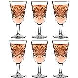 Libbey Copa de vino Hobstar – 300 ml / 30 cl - 6 Unidades - Diseño vintage - Resistente al lavavajillas
