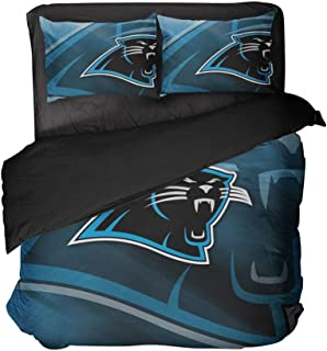 Charlotte City Comfortable Football Bedspread 3D Pattern Soft Pillowcase Duvet Cover (Style, Queen-3pcs)