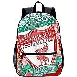 RomantiassLu Liverpool Football Club Logo Art Mochila Impresión 3D Mochilas para portátil Mochila para portátil Mochila informal Novedad Vestir Mochila de viaje