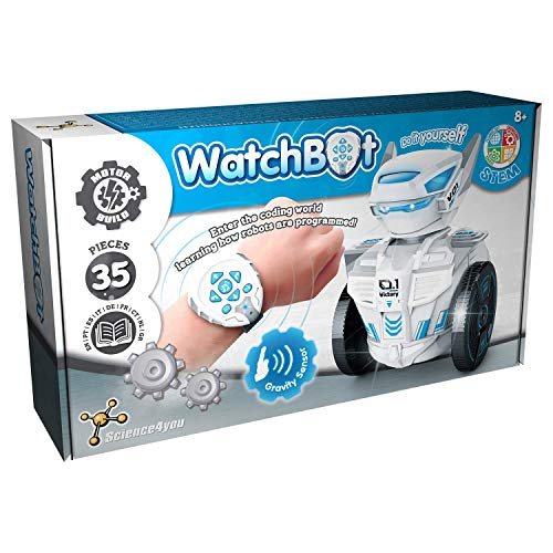 Science4you-Watchbot Robot teledirijido con reloj - Robot Juguete para Niños +8 Años - Construye tu propio robot con 35 piezas, Juguete Educativo para Niños