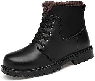 Shoes 靴 男性 ファッション アンクルブーツ カジュアル クラシック ステッチング ハイトップ ラウンドトゥ マーティンブーツ Comfortable (Color : Warm Black, サイズ : 25 CM)