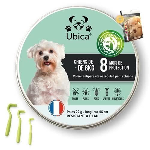 Ubica Collar Antipulgas y Antigarrapatas Perro Pequeño (-8k