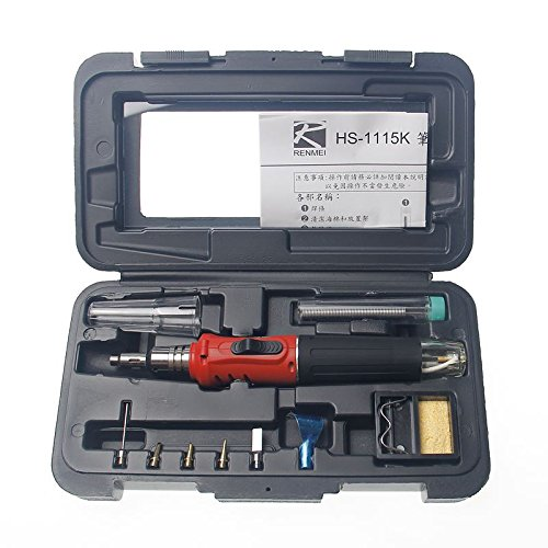 Draadloze butaangas-solderen verwarming zaklamp tool kit