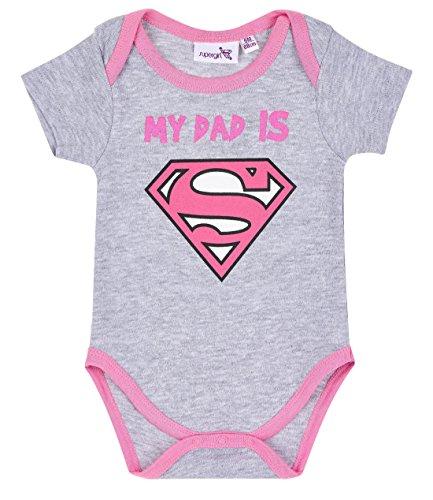 BABY SUPER Superbaby Babies Girls Body - gris - 18M